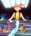 Pokemon Ninja Trainers - Misty and Red Gyarados