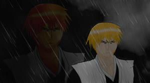 Ichigo in the rain