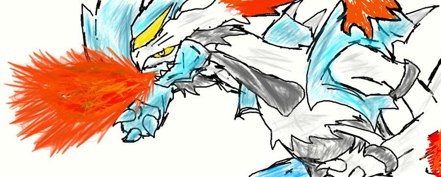Kyurem Fire Sketch by Shadow-Iero-Dragon on deviantART