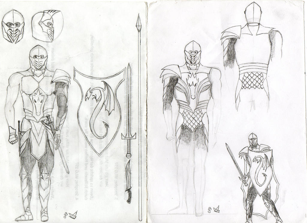 Dragon Knight armor concept by THEpsycho44 on DeviantArt