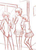 KH School: sketch by yoruven