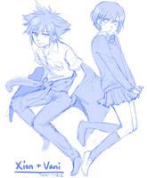 KH: Xion+Vanitas (uniform ver.) by yoruven