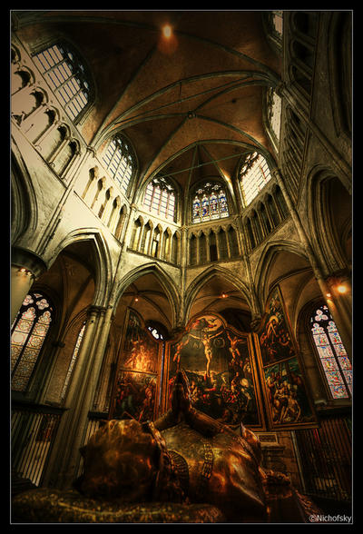 Crucifixion Triptych by Nichofsky