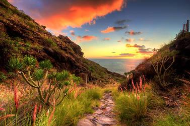 Tijarafe Sunset by Nichofsky