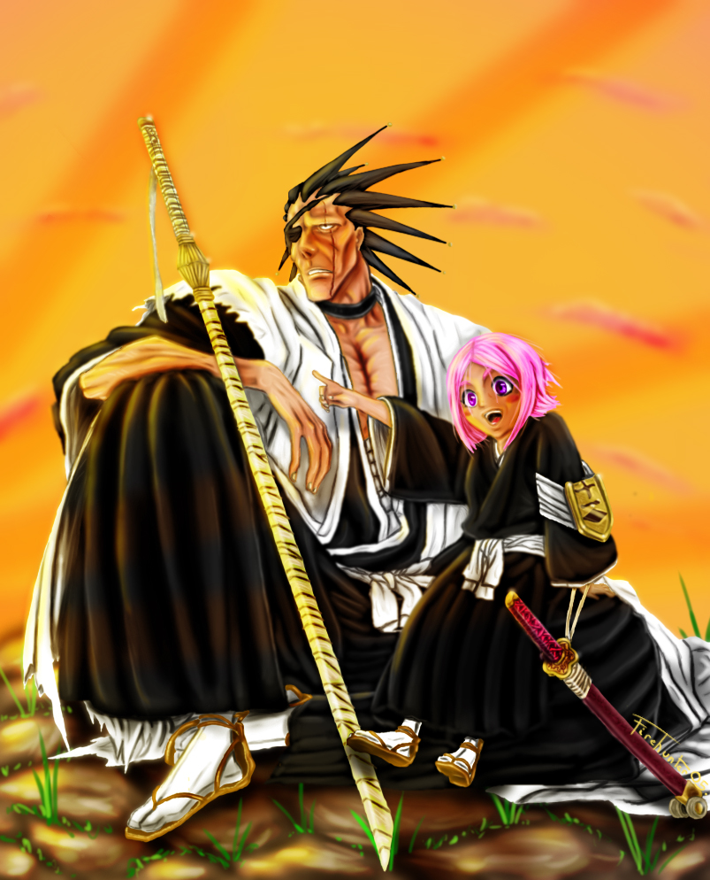 Kenpachi and Yachiru by Sardoron on DeviantArt