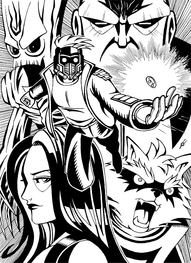 guardians of the galaxy by spushan
