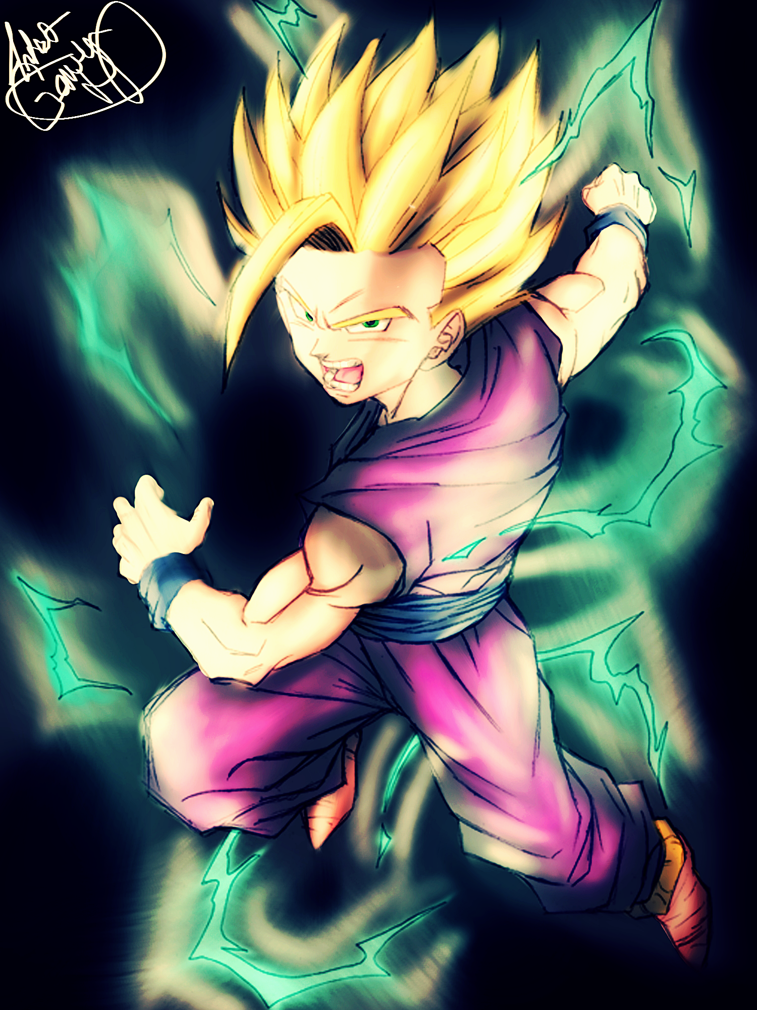 Dragon ball z gohan fanart by artistgamerhd on deviantart - Dragon ball z gohan images ...