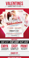 Valentine's Day Party Flyer Template by LouisTwelve-Design