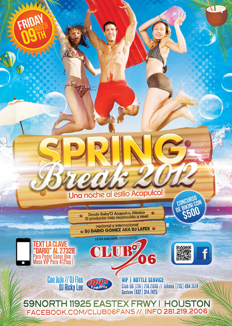 Spring Break Flyer / Summer Beach Flyer Template By LouisTwelve Design ...