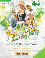 St Patrick's Day White Flyer by LouisTwelve-Design