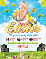 Easter Party - Flyer Template by LouisTwelve-Design