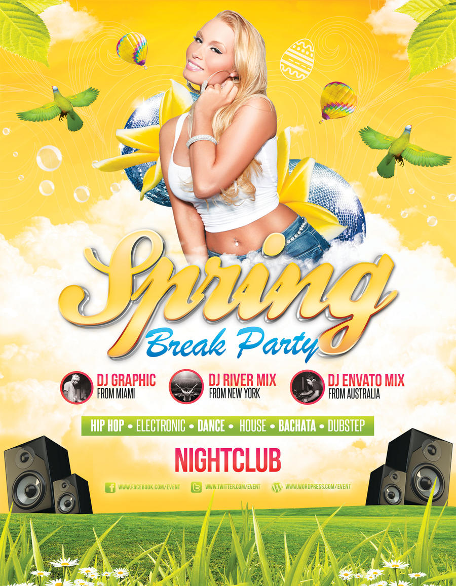 ... Spring / Easter Party   Flyer Template By LouisTwelve Design