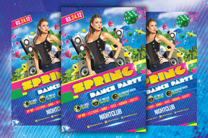 Spring Dance Party - Flyer Template by LouisTwelve-Design