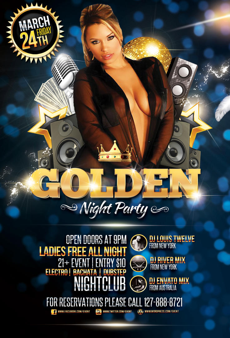 Golden Night Party - Flyer Template by LouisTwelve-Design on ...