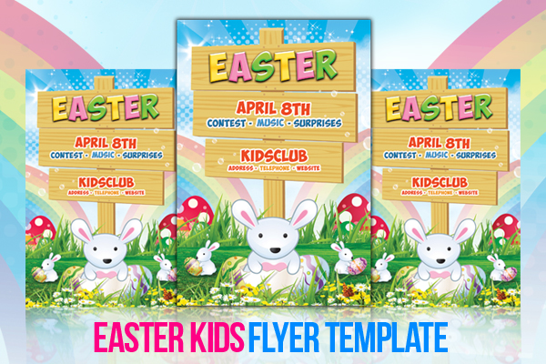 Easter Kids  Flyer Template By LouistwelveDesign On Deviantart