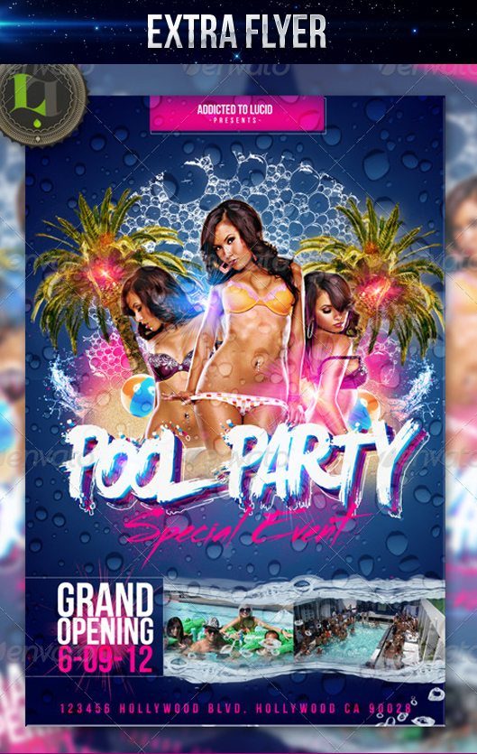 Summer Pool Party - Flyer Template by LouisTwelve-Design on DeviantArt