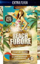 Beach Furore Party Flyer by LouisTwelve-Design
