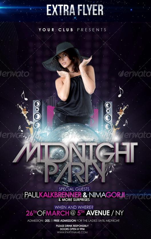 Midnight Party Flyer by LouisTwelve-Design on DeviantArt