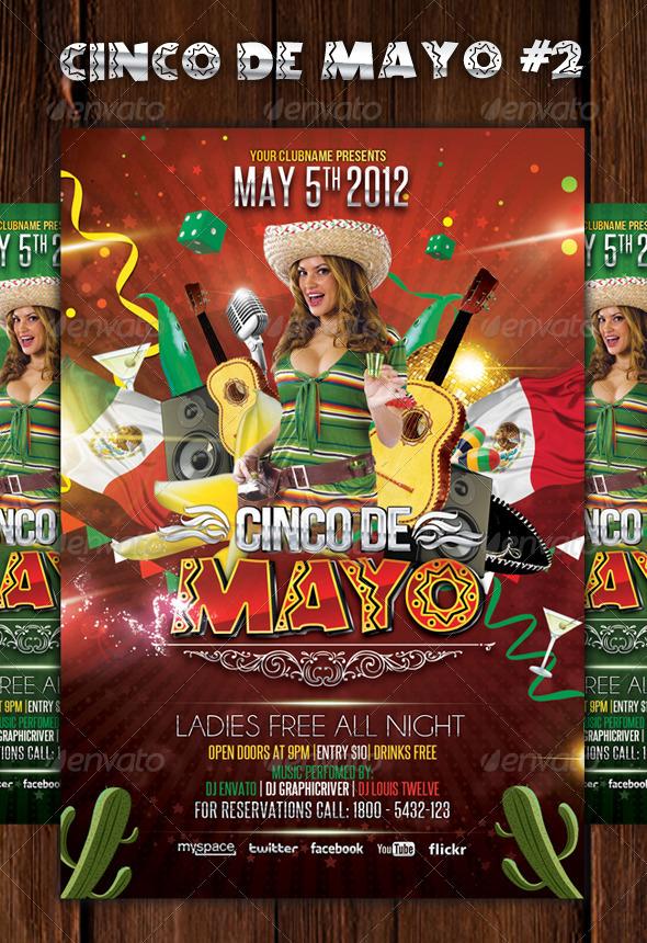 cinco de mayo party flyer template 2 by louistwelve design on
