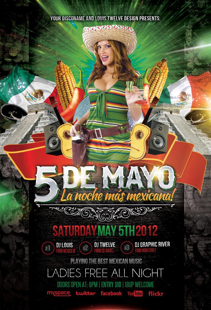 cinco de mayo party 3 flyer facebook timeline by louistwelve