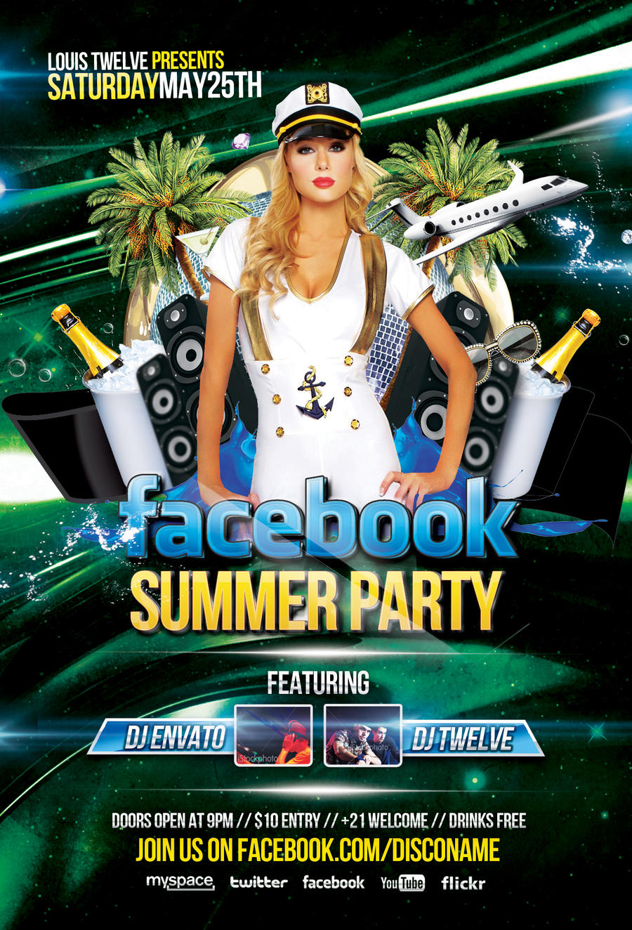 Facebook Summer Party - Flyer and Facebook Cover by LouisTwelve ...