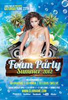 Foam Party Summer Flyer + Facebook Cover Timeline by LouisTwelve-Design