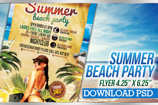 Summer Beach Party  Flyer Template By LouistwelveDesign On Deviantart