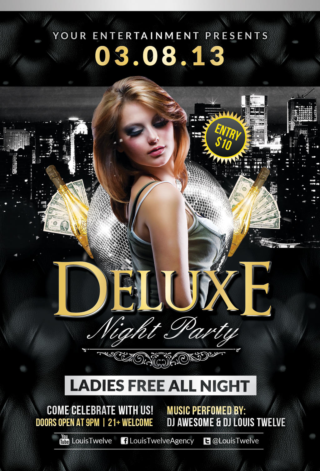 FREE Deluxe Night Party | Flyer Template by LouisTwelve-Design on ...