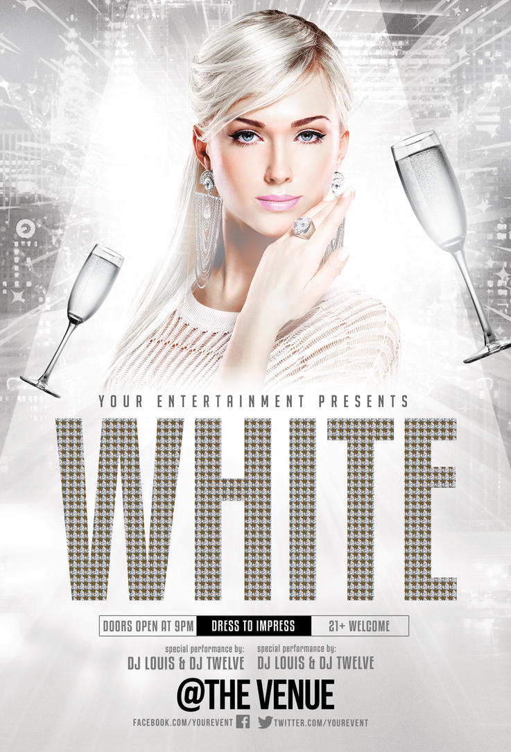 New Year White or Gold Party | Flyer + FB Cover by LouisTwelve ...