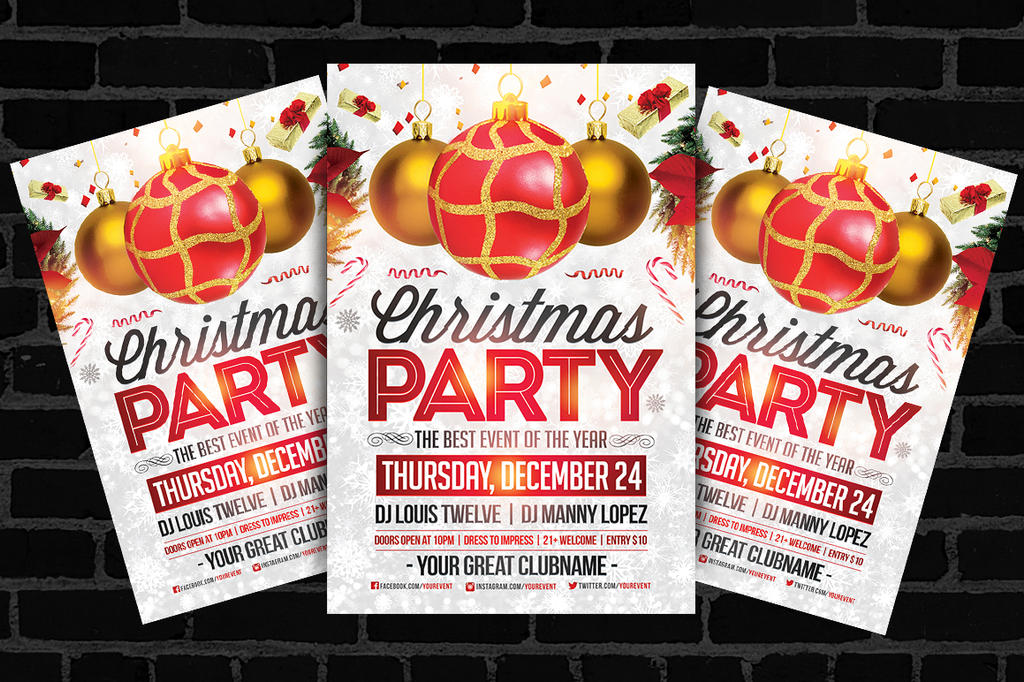 Christmas Party Flyer Ideas Part - 24: Christmas Party | Flyer Template By LouisTwelve-Design ...