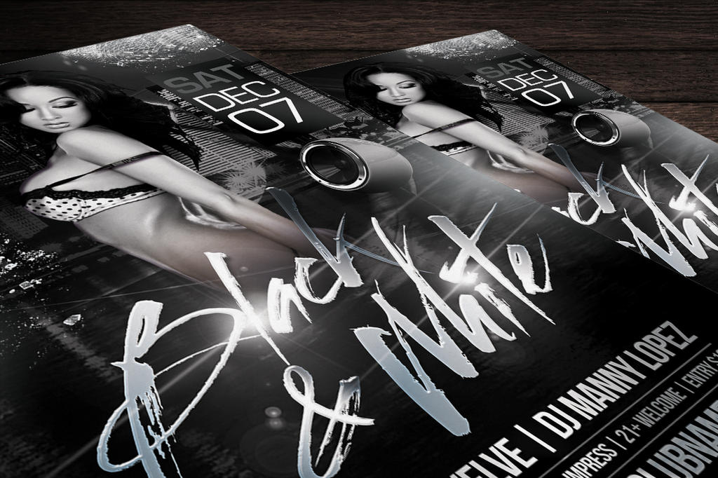 Black and White Flyer Template by LouisTwelveDesign on DeviantArt – Black and White Flyer Template