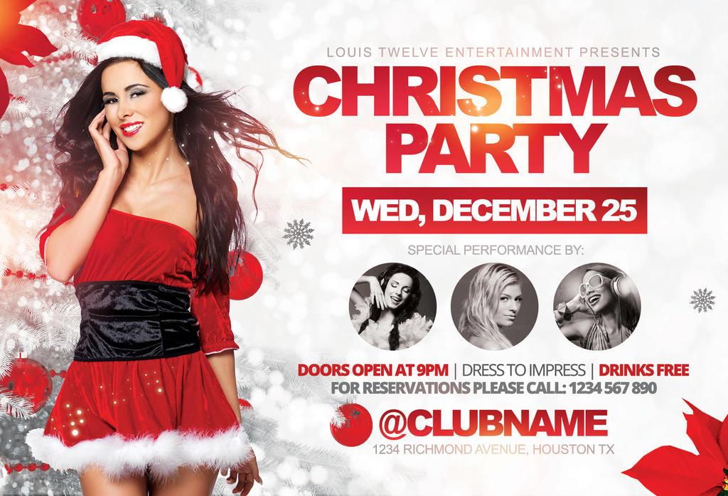 Christmas Party | Flyer Template by LouisTwelve-Design on DeviantArt