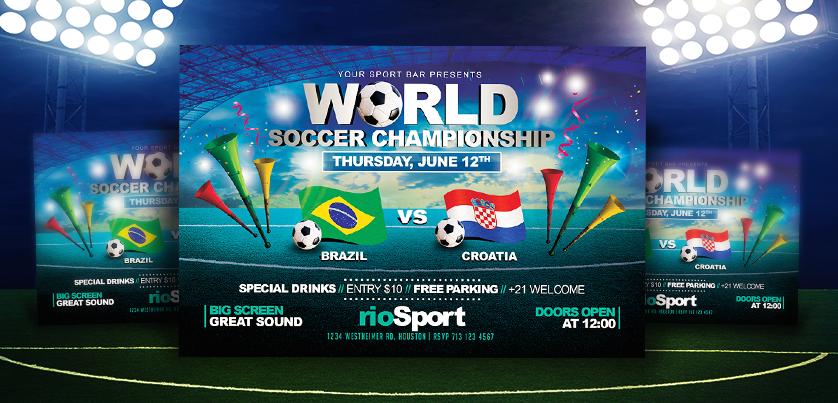 Worldcup Brazil 2014 | Horizontal Flyer Template by LouisTwelve ...
