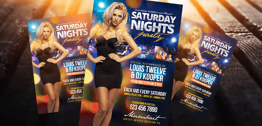 Saturday Nights Flyer + Instagram Promo by LouisTwelve-Design