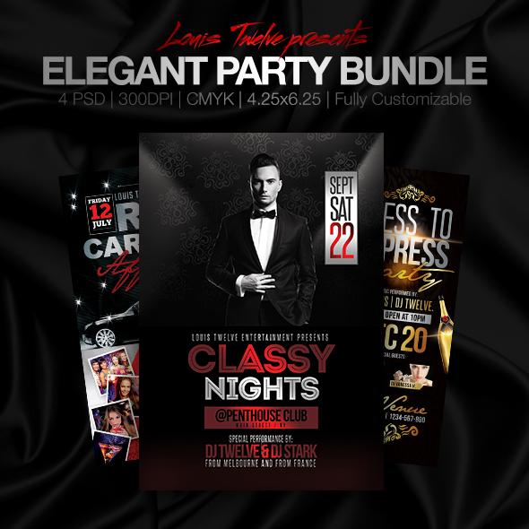 Elegant Party Bundle Flyer by LouisTwelve-Design