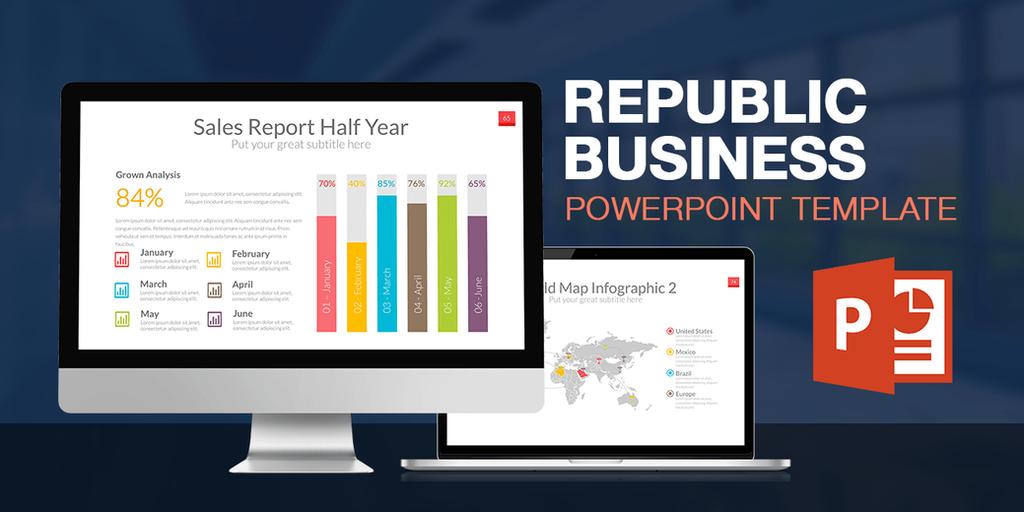 Republic Powerpoint Presentation Template by LouisTwelve-Design