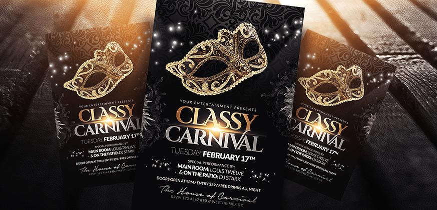DeviantArt: More Like Classy Carnival, Masquerade Ball Party Flyer ...