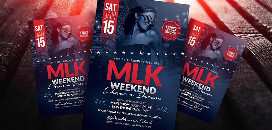 MLK Weekend Party Flyer PSD Template by LouisTwelve-Design