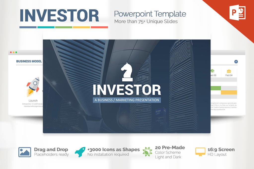 investor pitch deck powerpoint template by louistwelve design on deviantart. Black Bedroom Furniture Sets. Home Design Ideas