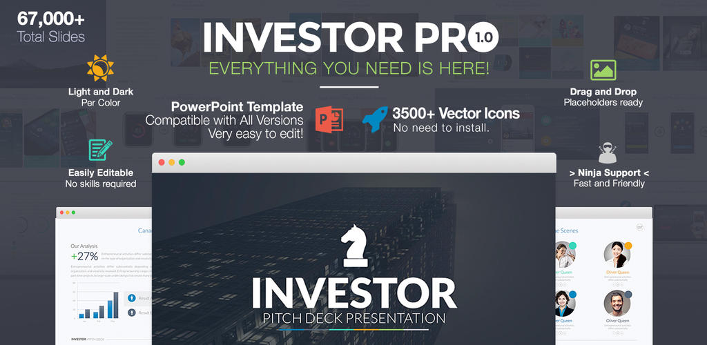 Investor Pitch Deck PowerPoint Template by LouisTwelve-Design