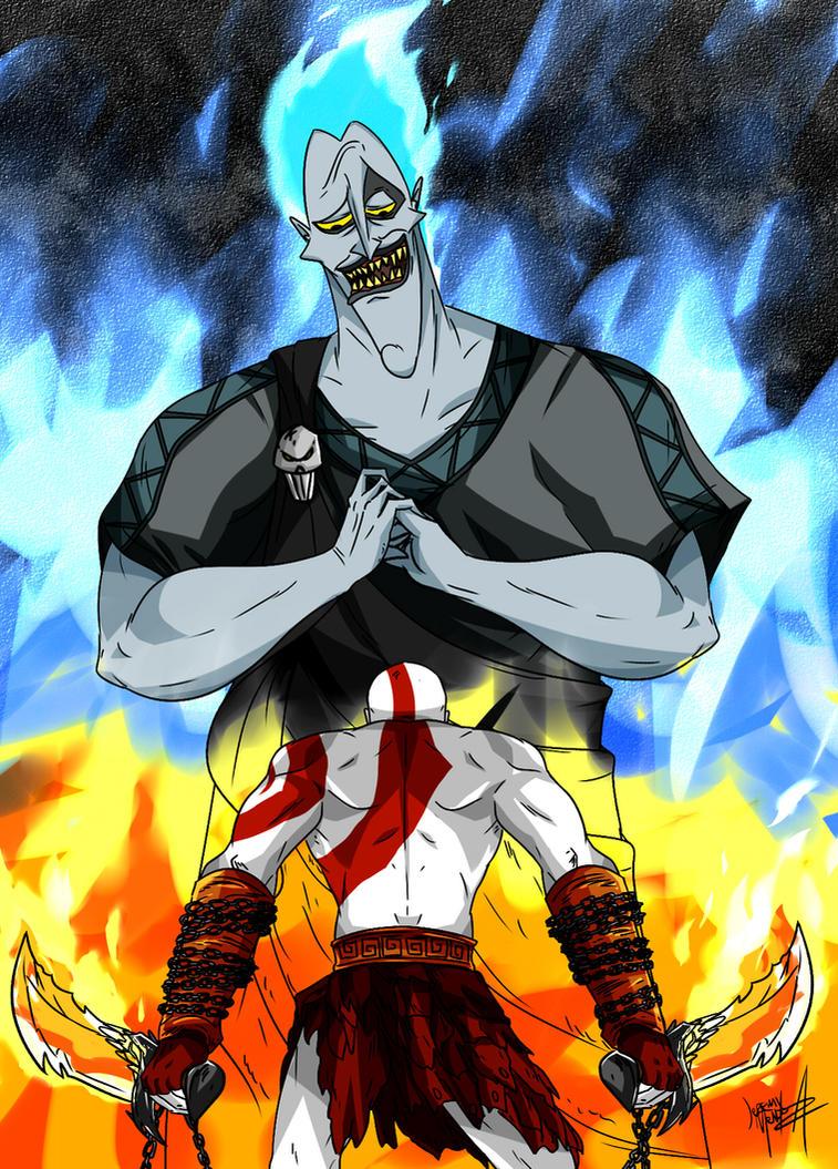 kratos vs hades by jeremymendoza on deviantart