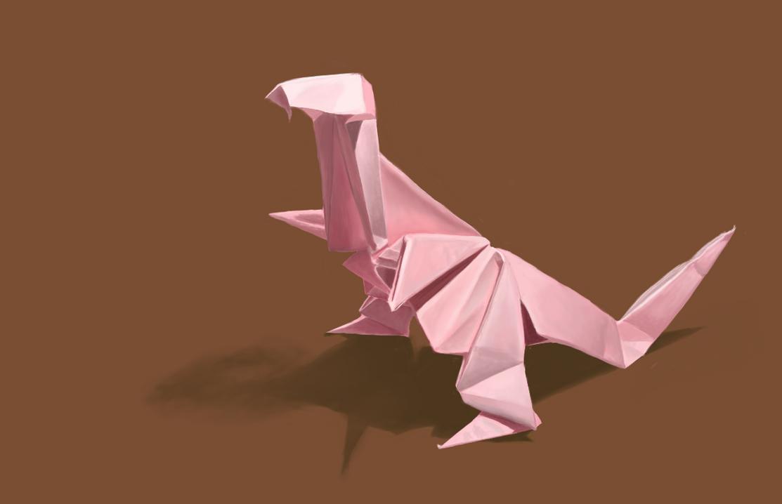 Origami Dinosaur by huurrrple
