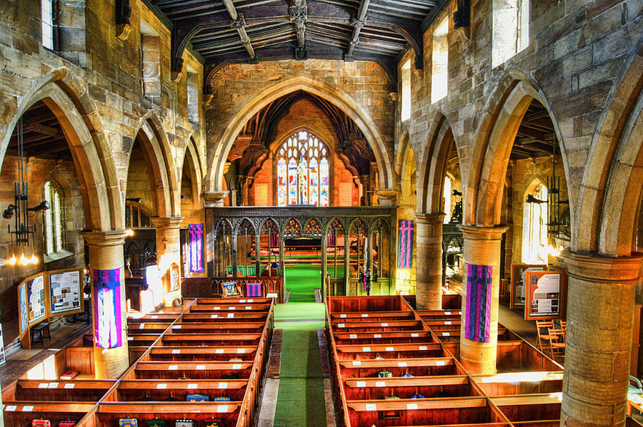 Interior of All Saints and St James, Silkstone... by TheBaldingOne