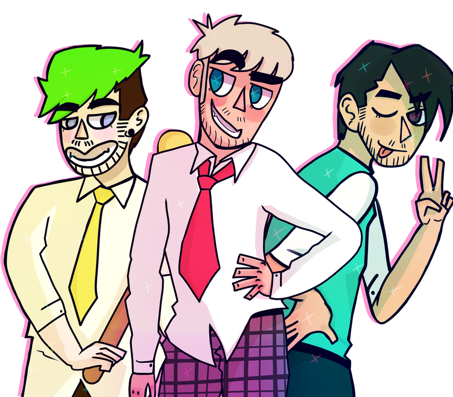 Jack, Felix and Mark (Heathers) by awokenbyacloud