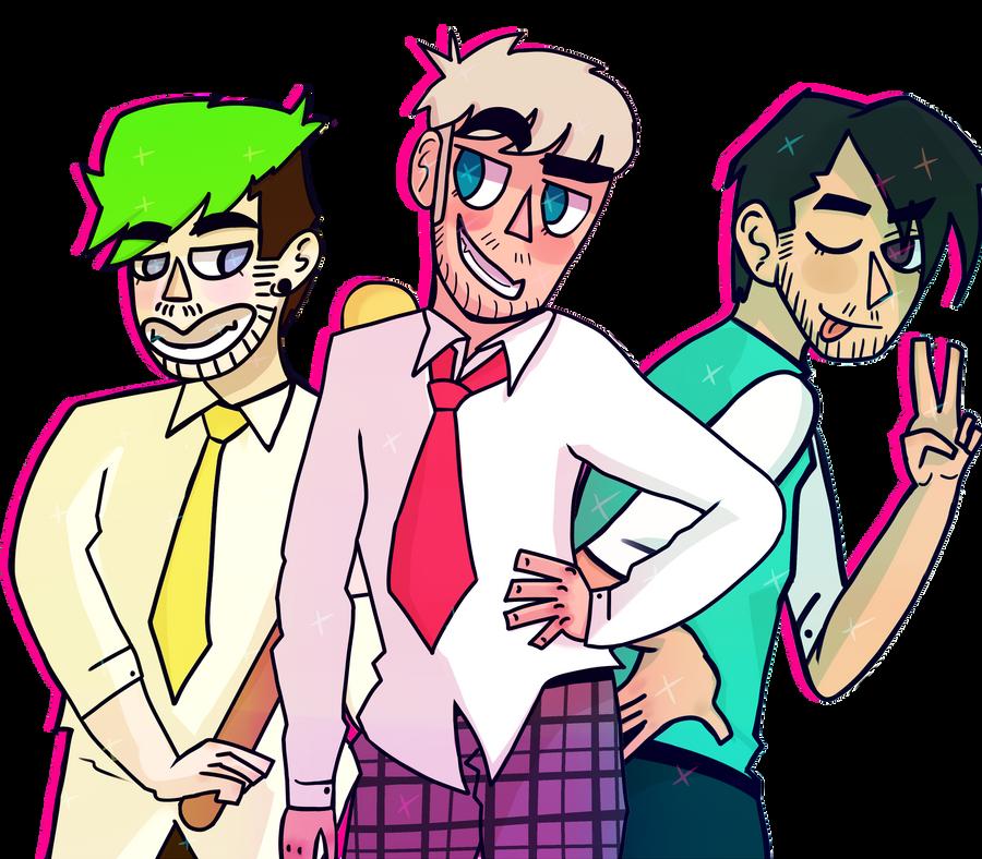 Jack, Felix and Mark (Heathers) by awokenbyacloud