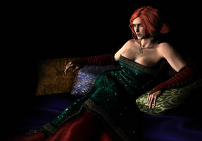 Triss Merigold / Portrait series by AnnaPostal666