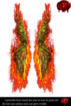 Fairy Wings w/fire 3 by Prince-of-airbrush