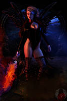 Fire Fairy 2 by Prince-of-airbrush
