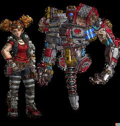 Borderlands 3: Gaige and Deathtrap.