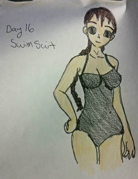 Violet day 16: Bathing suit